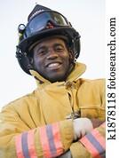 Portrait of a firefighter