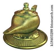 The lamp of magic