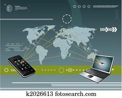 technologie, beweglich, hintergrund