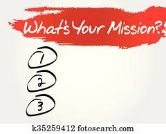 What's Your Mission blank list