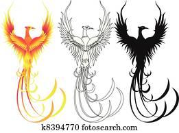 phoenix, vogel, sammlung