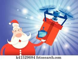 weihnachtsmann, brummen, auslieferung, geschenk, jahreswechsel, frohe weihnacht, feiertag