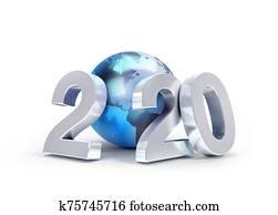 2020 Worldwide greeting symbol
