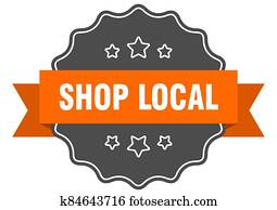 shop local label. shop local isolated seal. sticker. sign