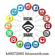 Social Share Background