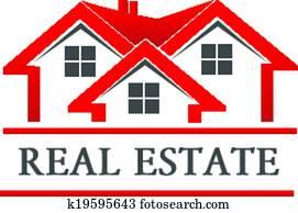real estate, haus, firma, logo