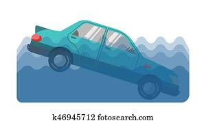 Car accident in water
