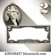 Miscellaneous two dollar bill eleme