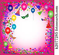 pink party and carnival background