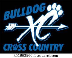 bulldogge, überqueren land