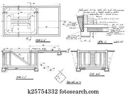picture of building architecture brunette blueprint blond