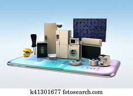 Smart appliances on a smart phone