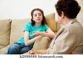 Teen Speaking with Counselor