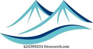 bergwelt, blau, logo