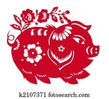 Chinese Zodiac of pig year