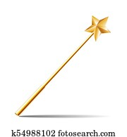 Magic Wand with gold star