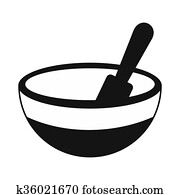 Mortar and pestle black simple icon