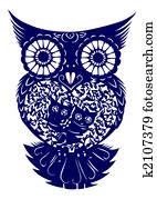 paper-cut of owl