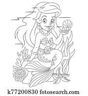cute lovely mermaid