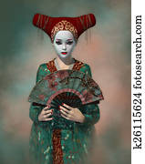 Little Geisha, 3d CG