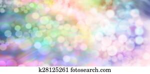Soft healing bokeh light stream