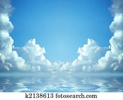 idyllic blue sky