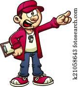 Cartoon coach