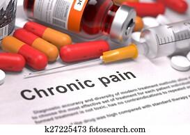 Chronic Pain - Medical Concept.