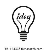 Creative Idea in Bulb Shape as Inspiration Concept Icon. Vector