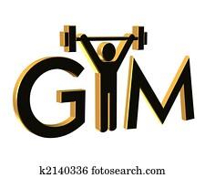 Gym Fitness Logo 3D