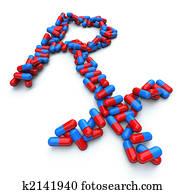 RX - Pharmacy Symbol - Capsule Pills