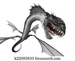 Snake Dragon Attacking