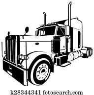 amerikanisch, lastwagen