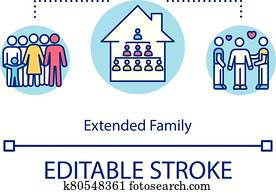 Extended family concept icon