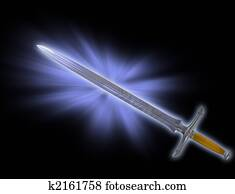 Magic battle sword