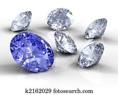 Six diamonds