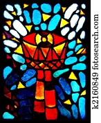 Stained glass goblet.