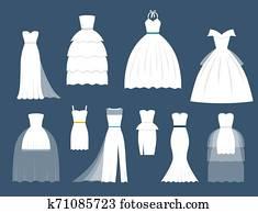 Wedding white bride dress elegance fashion style celebration bridal shower weddind-day composition illustration