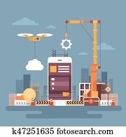 beweglich, anwendung, webentwicklung, zelle, klug, telefonger?t, app, programmierung, begriff