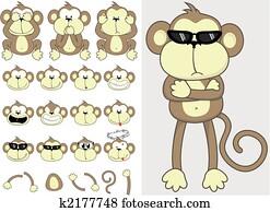 cute monkey set