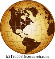 globe north and south america