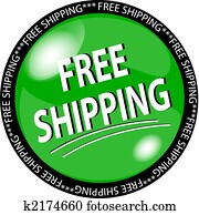 green free shipping button