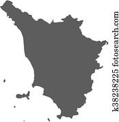 Map - Tuscany (Italy)