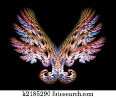 Angel Wings Emblem over Black