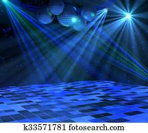 Blue Disco Dance Floor