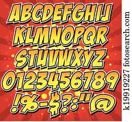 comics style alphabet collection se
