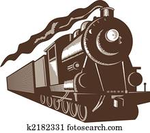 Euro steam train front view
