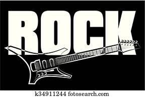 felsen- musik, gitarre