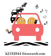 teen driver illustration