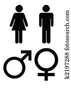 Male and female gender symbols